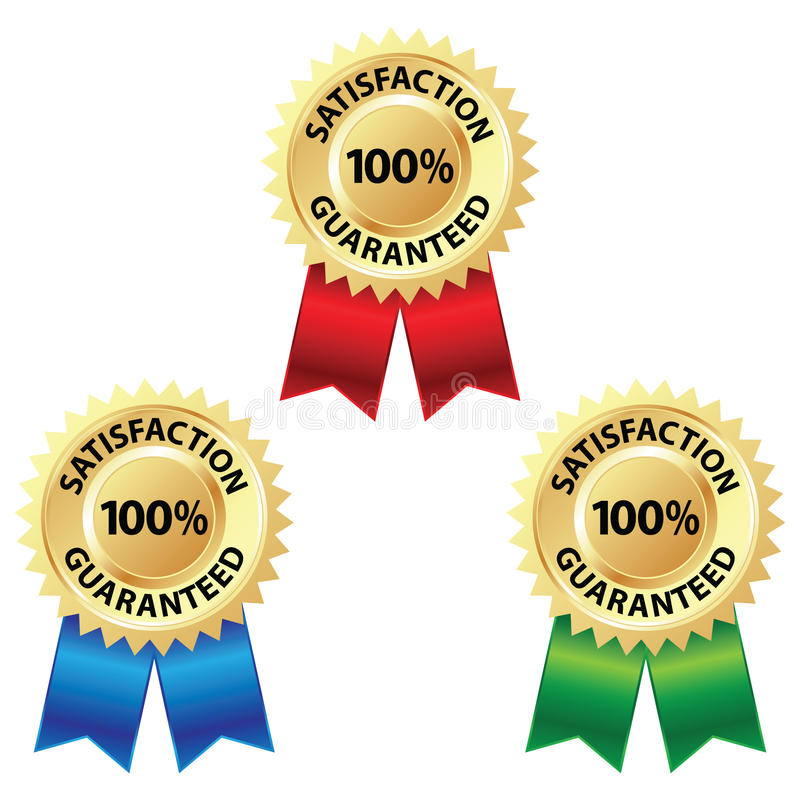Satisfaction Guaranteed Badge vector illustration