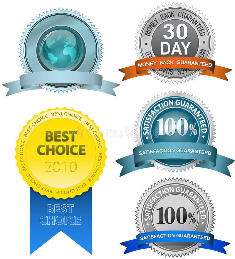 Download Satisfaction Guaranteed Sign Set Stock Vector - Image: 14046123
