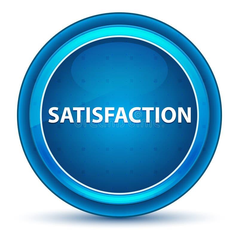 Satisfaction Eyeball Blue Round Button stock illustration