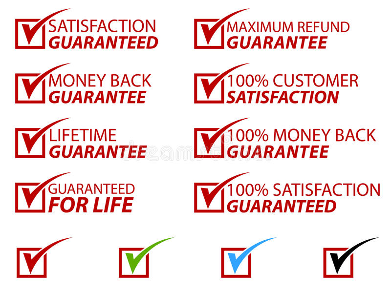 Satisfaction Stamps EPS royalty free illustration