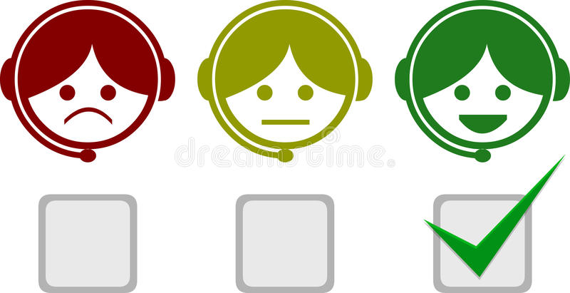 Satisfactions Icons of Telemarketing vector illustration