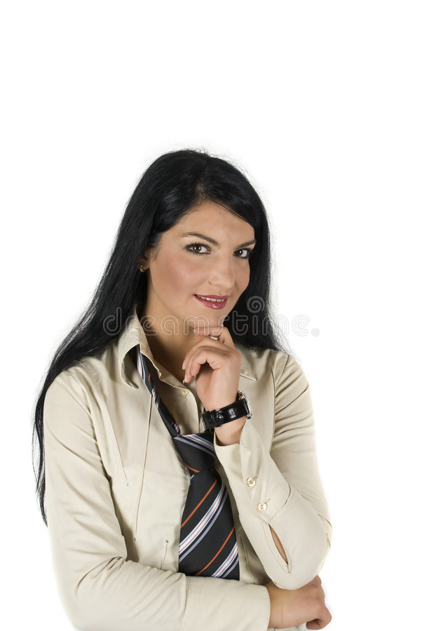 Satisfied business woman