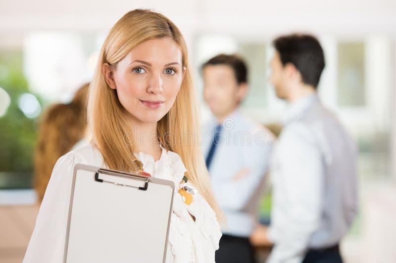 Satisfied business woman stock photos