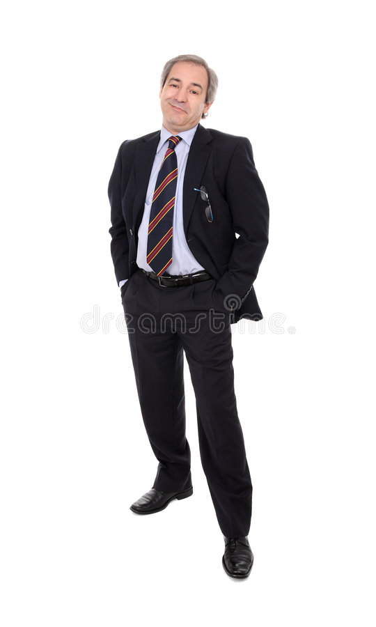 Download Satisfied Businessman stock photo. Image of isolated, manager - 6538396