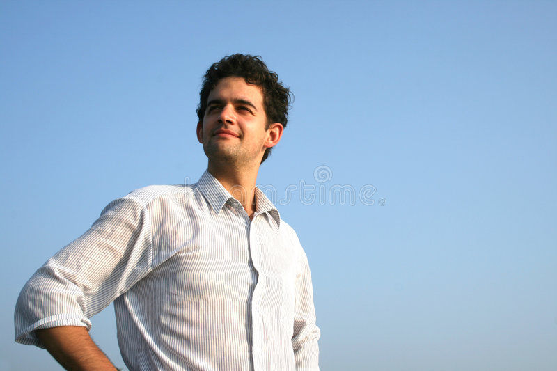 Download Satisfied man stock image. Image of satisfaction, blue - 9045081