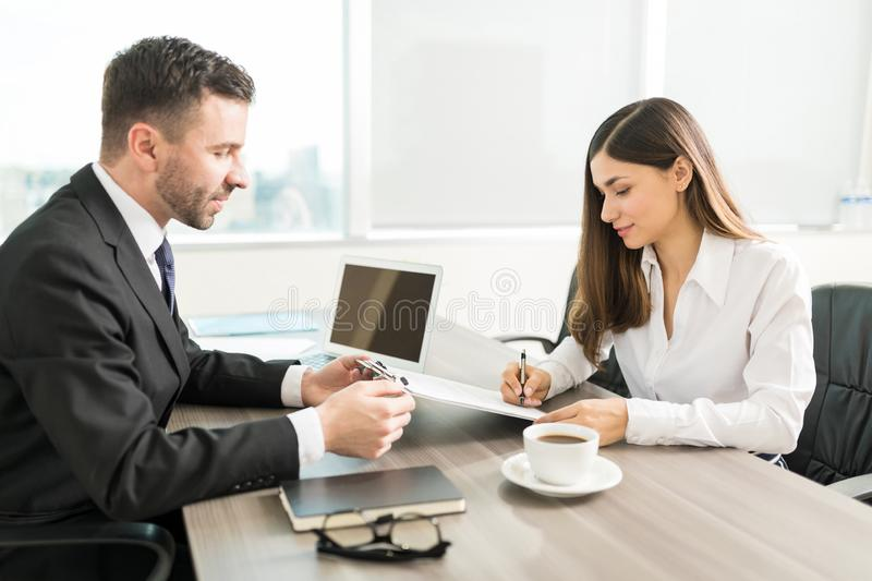 Satisfied Partners Ready To Do Business royalty free stock images