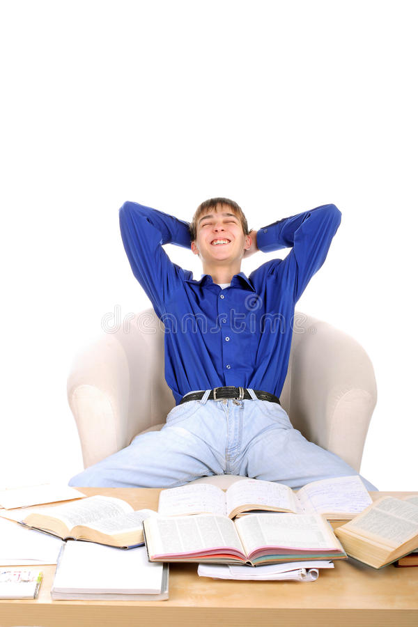 Download Satisfied student stock photo. Image of rest, happy, happiness - 14686912