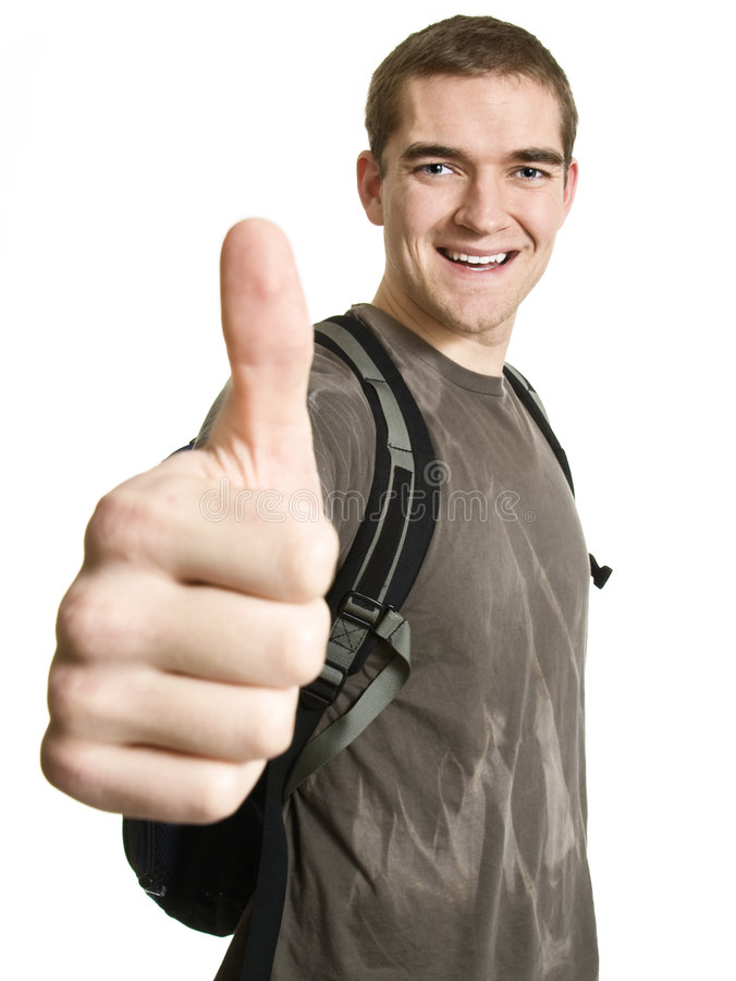 Satisfied Student stock images