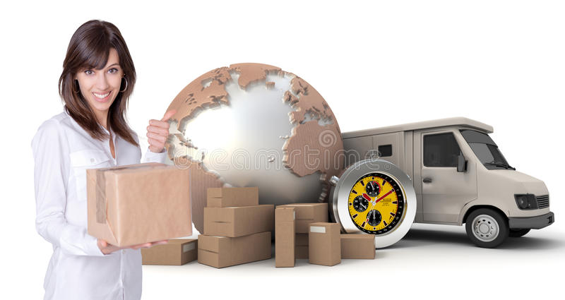 Download Satisfied Transportation Customer Stock Photo - Image of isolated, courier: 21362670