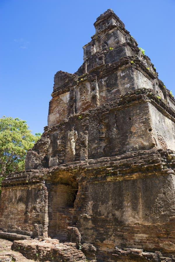 Satmahal Prasada, Polonnaruwa, Sri Lanka fotografía de archivo libre de regalías