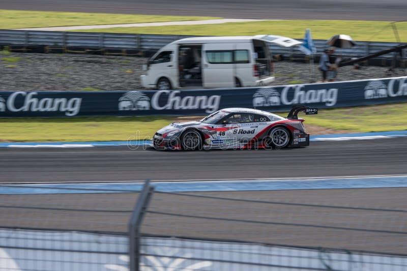 Satoshi Motoyama van MOLA in Super Definitieve Race 66 van GT Overlappingen bij 2015 stock afbeelding