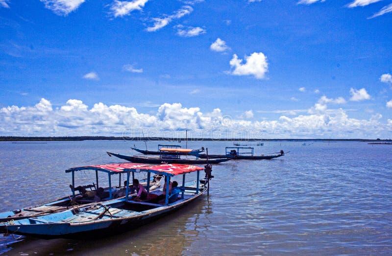 Satpada jezioro w Odisha zdjęcia royalty free