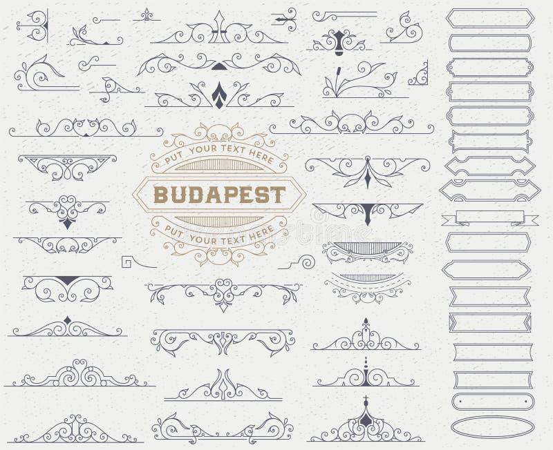 Sats av tappningbeståndsdelar royaltyfri illustrationer
