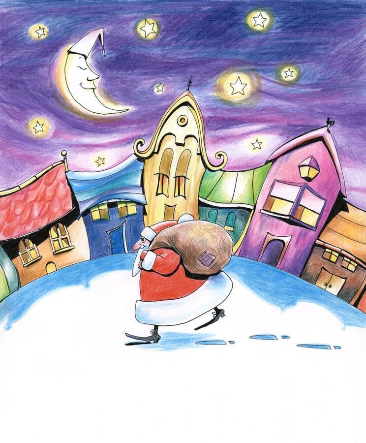 sats santa stock illustrationer