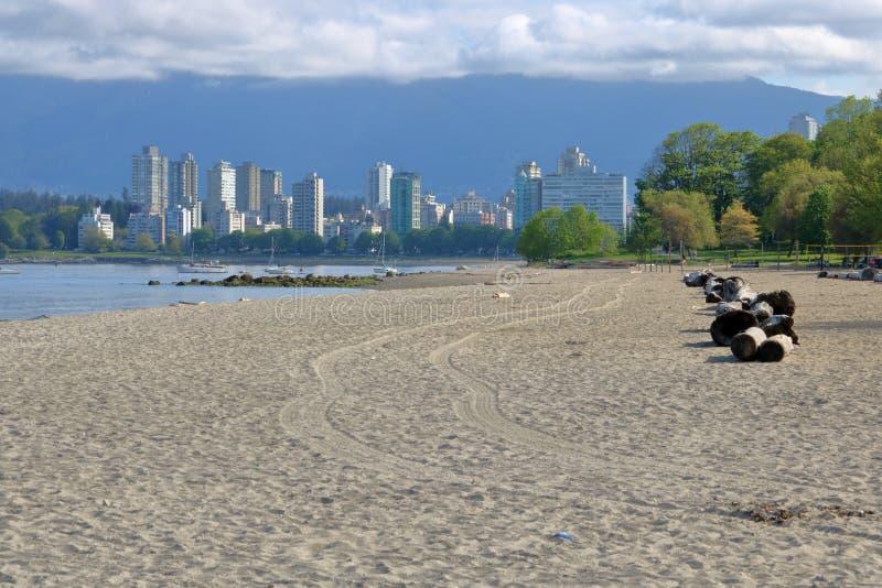 Satser sätter på land nära i stadens centrum Vancouver, Kanada royaltyfria bilder