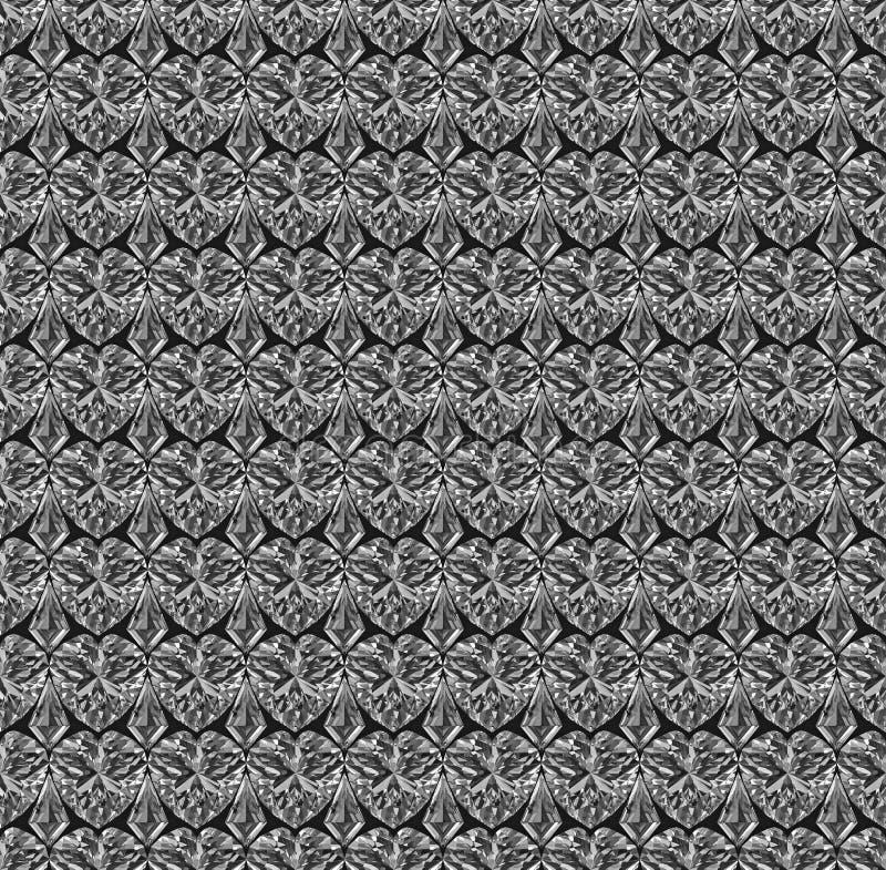 satt ihop seamless diamantmodell vektor illustrationer