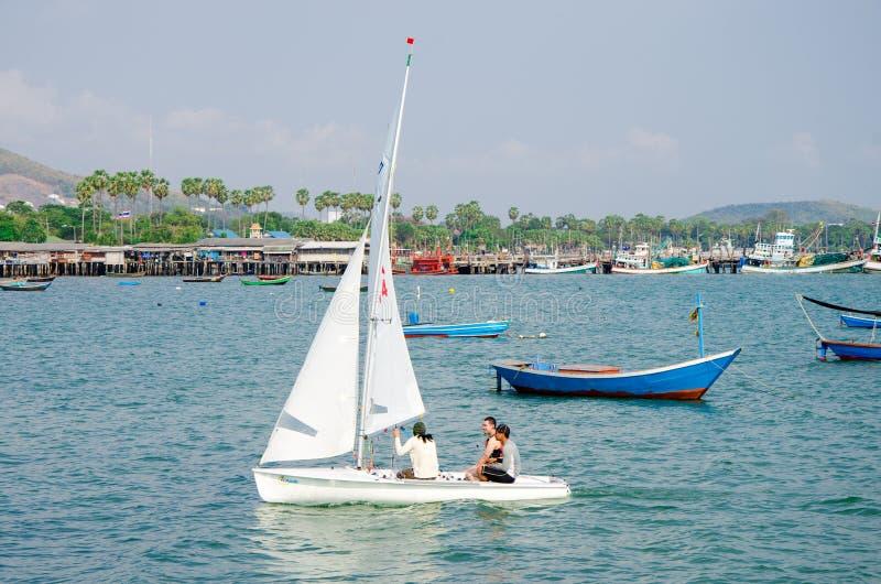 Sattahip, Thailand : sailboat. royalty free stock image