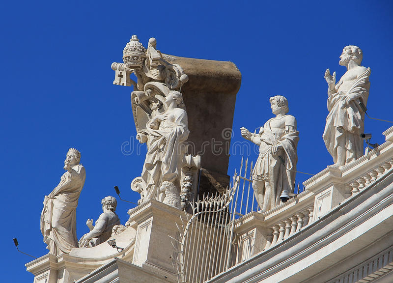 Satues à Vatican, Italie photo stock