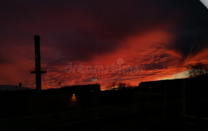 Saturación de la puesta del sol imágenes de archivo libres de regalías