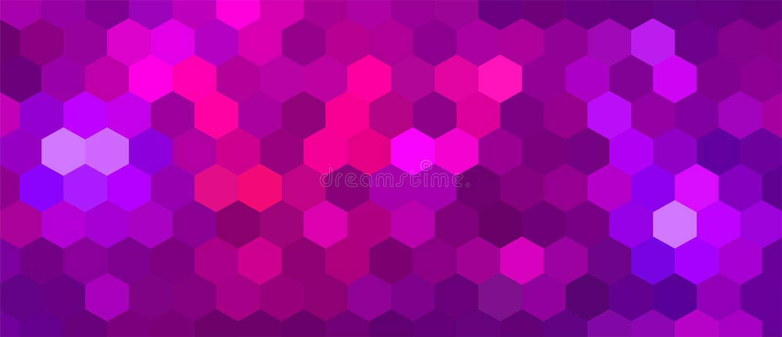 Brightly Colored Pink and Purple Mosaic Design. Saturated Pink Background for Your Advertising Graphic Design Project. Magenta Desktop Wallpaper. Party vector illustration
