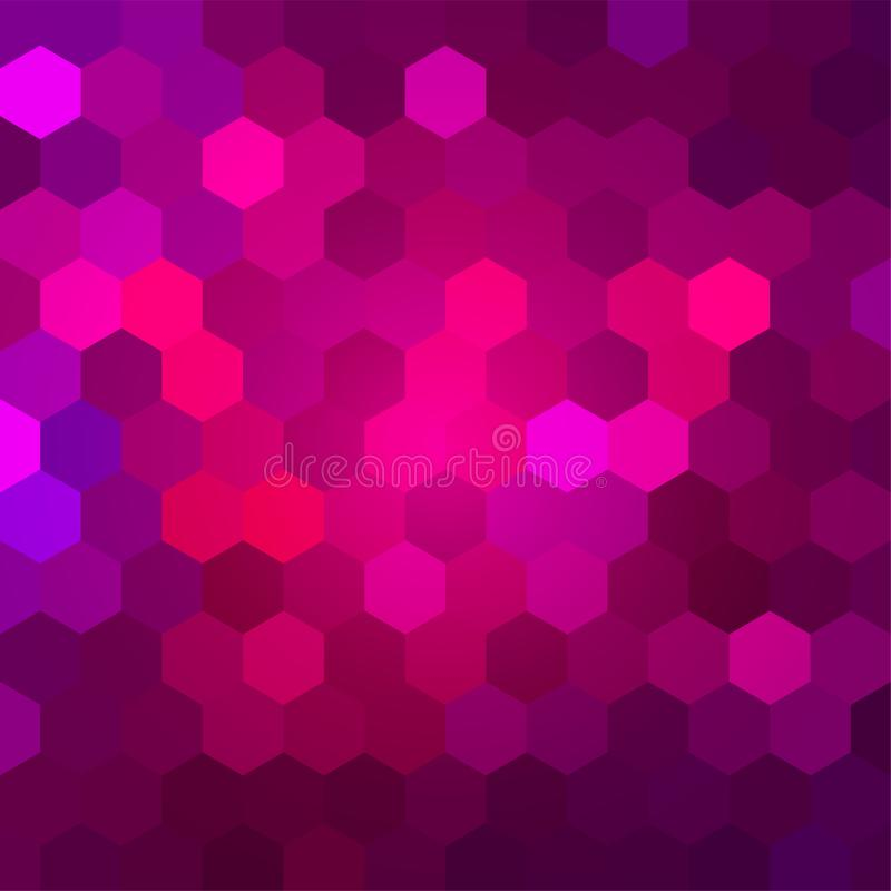 Brightly Colored Pink and Magenta Mosaic Design. Saturated Pink Background for Your Advertising Graphic Design Project. Magenta Desktop Wallpaper. Party royalty free illustration