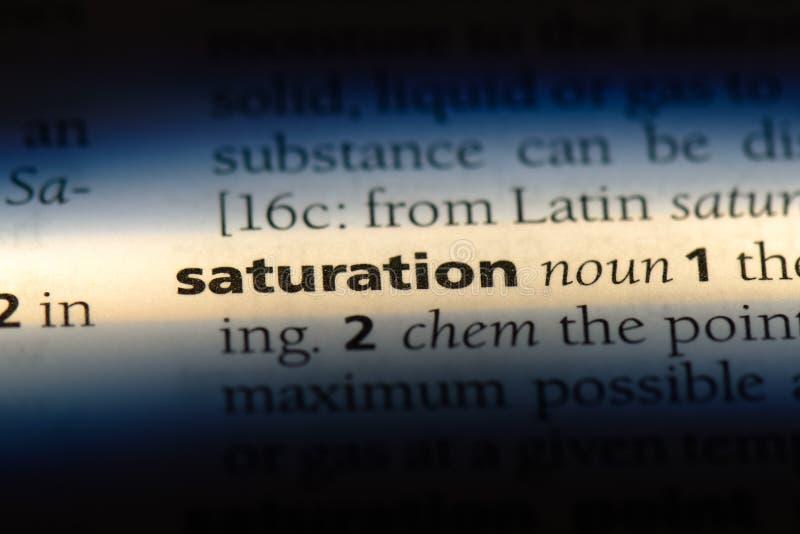 saturation imagem de stock