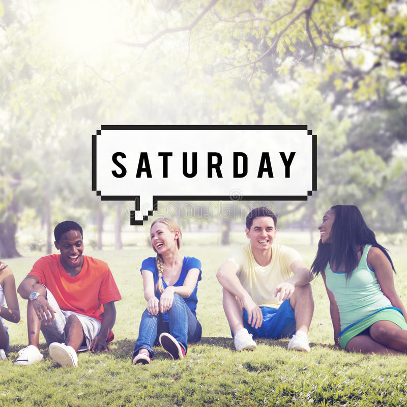 Saturday Day Week Planning Weekend Concept royalty free stock photo