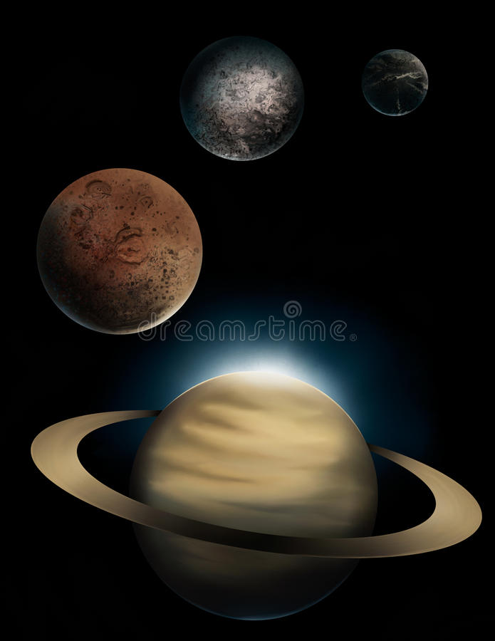 saturn royaltyfri illustrationer