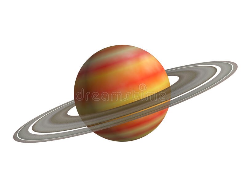 Saturn. Is on a white background