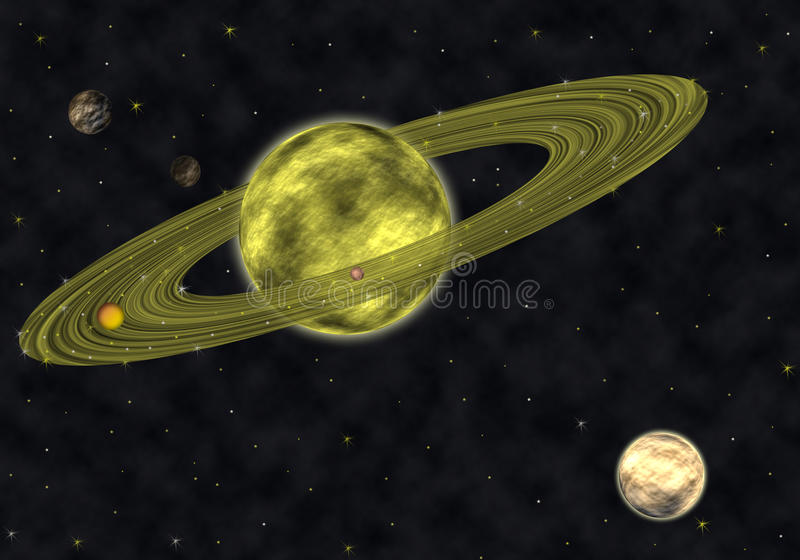 Download Saturn stock illustration. Image of system, astronomy - 21087685