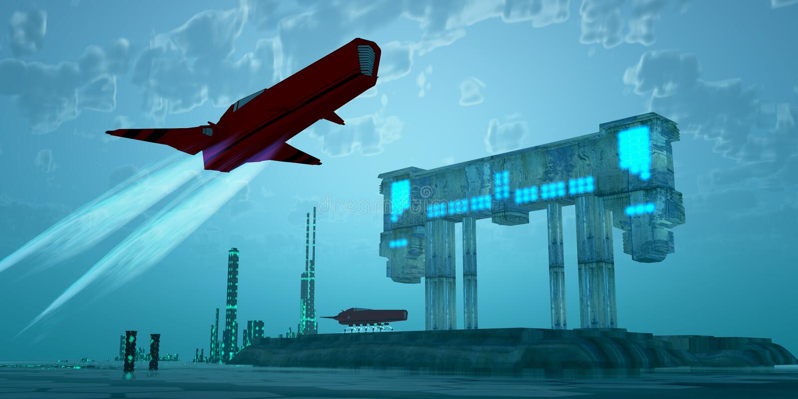 Download Saturn 6 stock illustration. Image of airport, place - 26875409