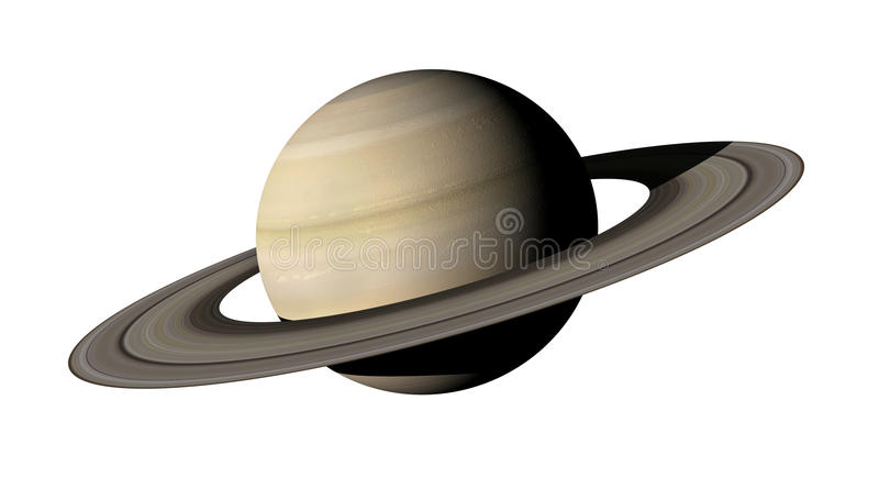 Saturn. 3d rendering of the planet Saturn isolated over white background. Elements of this image furnished by NASA vector illustration