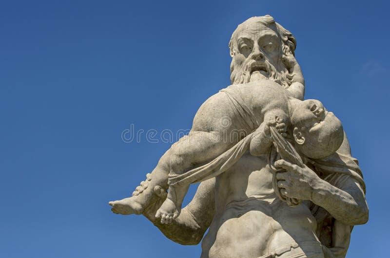 Saturn, das seinen Sohn verschlingt stockfotos