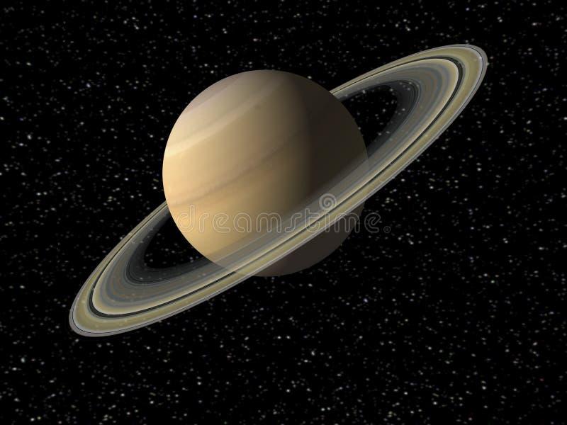 Saturn. Digital Illustration of Planet Saturn vector illustration