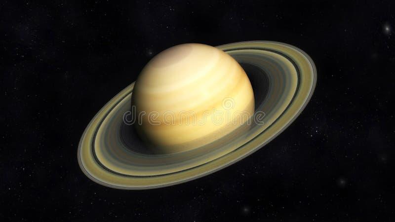 Saturn. Digital Illustration of Planet Saturn stock illustration