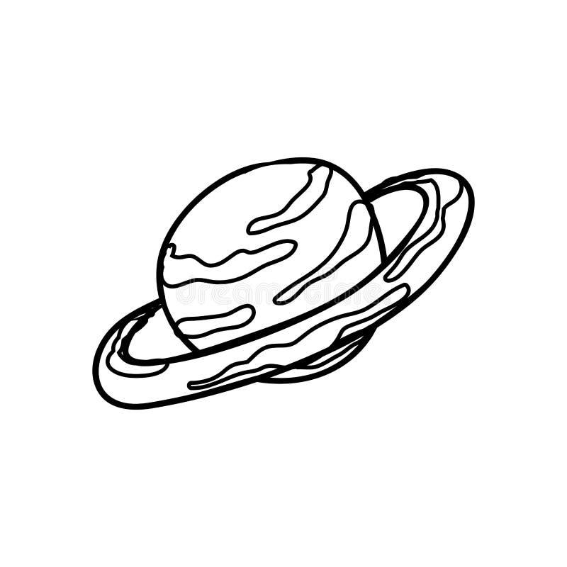 Saturn-planeet ruimtepictogram royalty-vrije illustratie