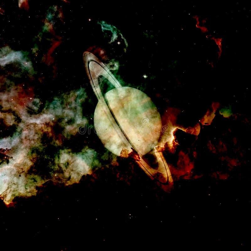 Saturn - planeet van het Zonnestelsel Elementen van dit die beeld door NASA wordt geleverd royalty-vrije illustratie