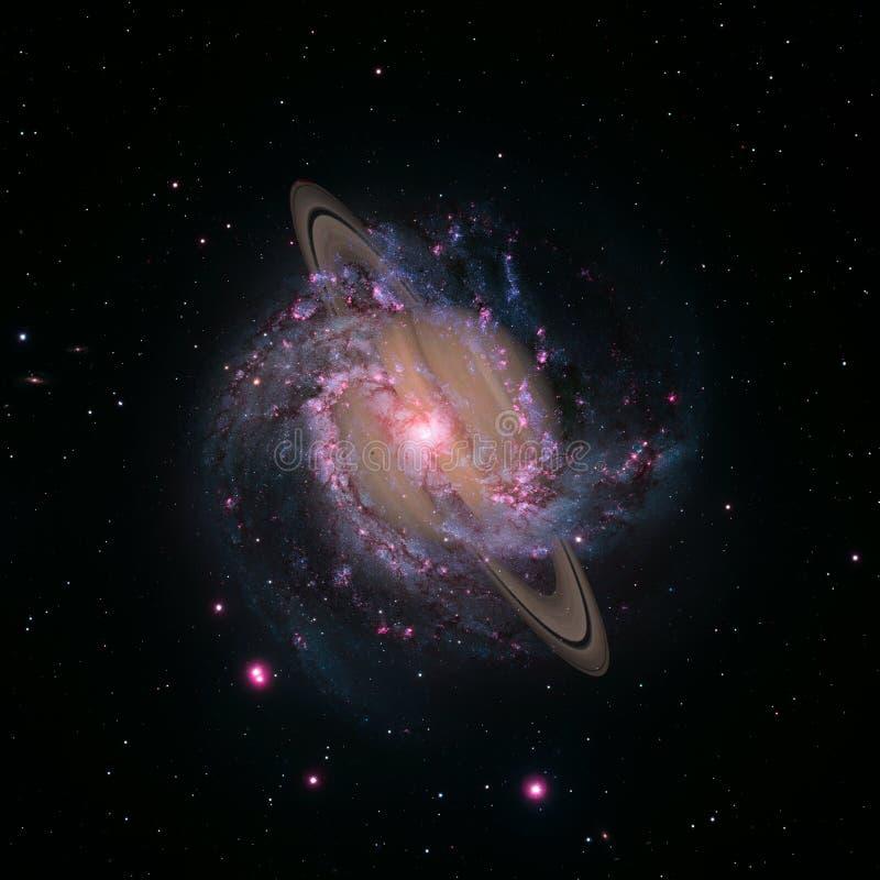 Saturn - planeet van het Zonnestelsel Elementen van dit die beeld door NASA wordt geleverd stock illustratie