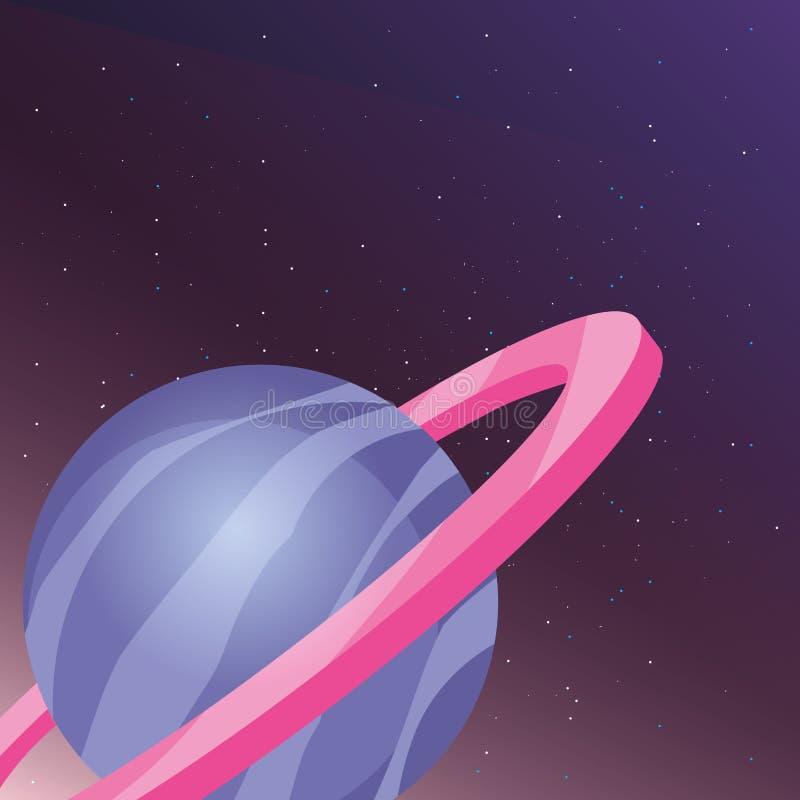 Saturn-planeetontwerp stock illustratie
