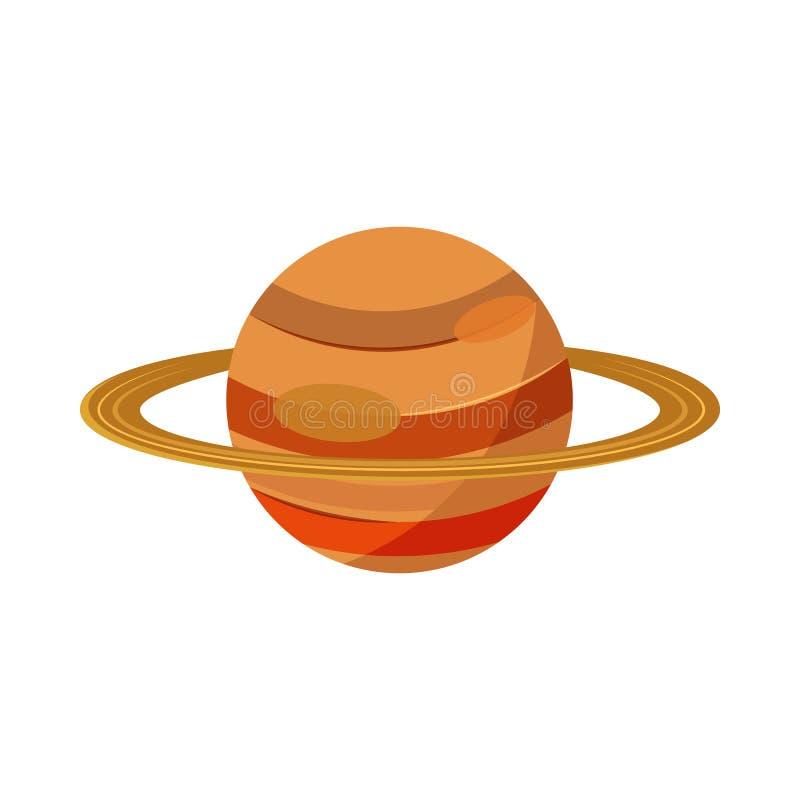 Saturn-planeetpictogram in beeldverhaalstijl stock illustratie