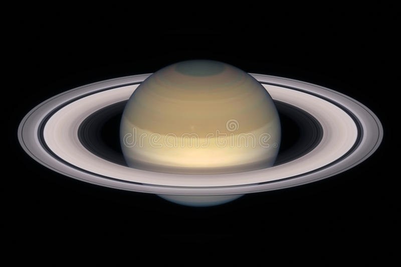 Saturn planet, isolated on black. stock image