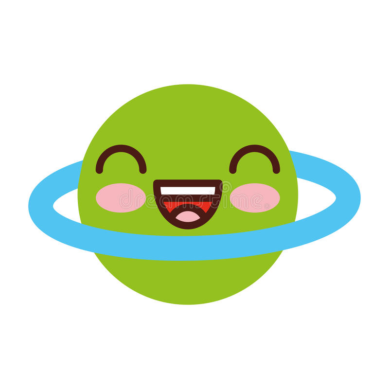 Saturn planety komiczny charakter ilustracji