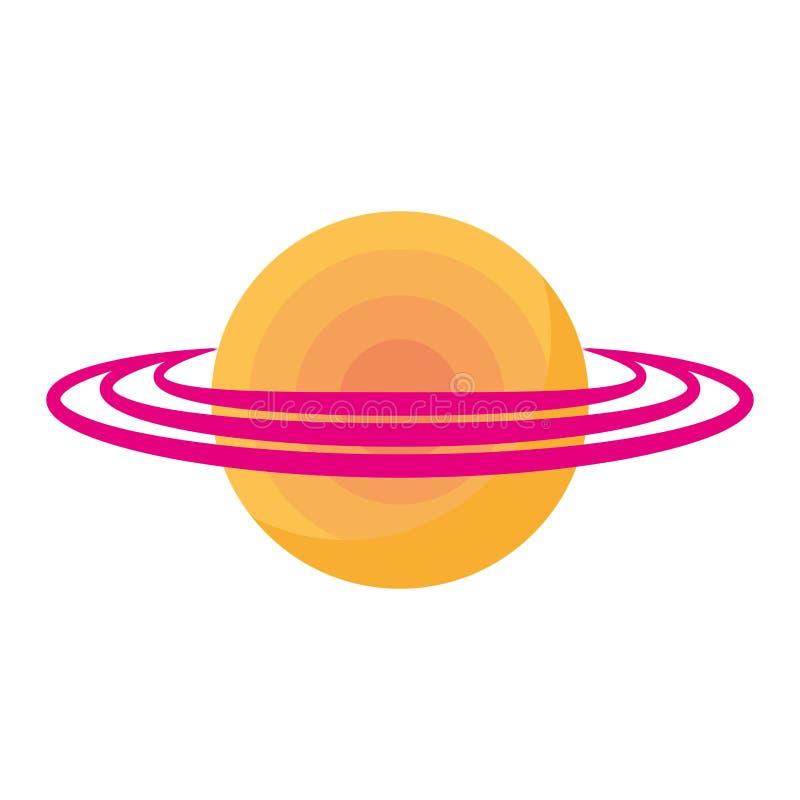 Saturn planety odosobniona ikona ilustracja wektor