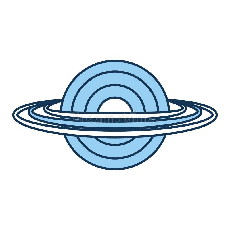 Saturn planety odosobniona ikona ilustracji