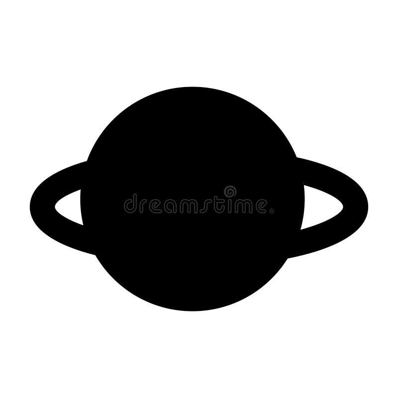 Saturn planety odosobniona ikona royalty ilustracja