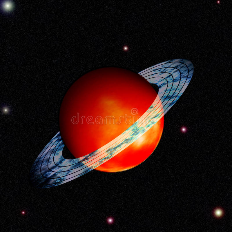 Download Saturn with ring around stock illustration. Illustration of astronomy - 22612222