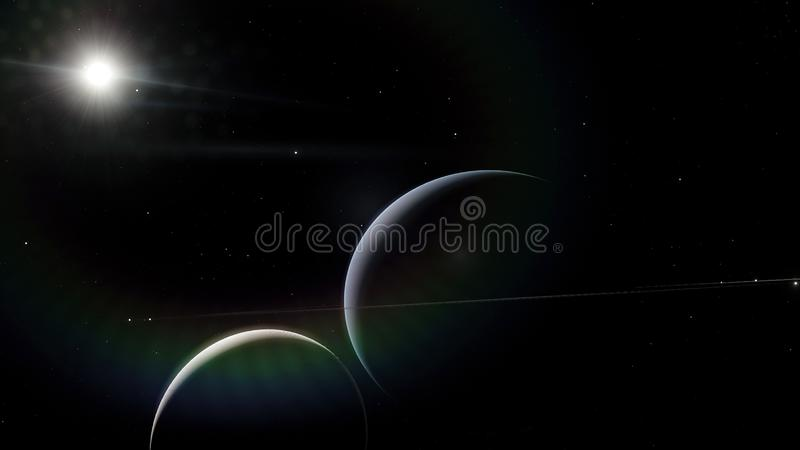 Saturn. Science fiction space wallpaper, incredibly beautiful planets, galaxies, dark and cold beauty of endless. Universe. Elements of this image furnished by vector illustration