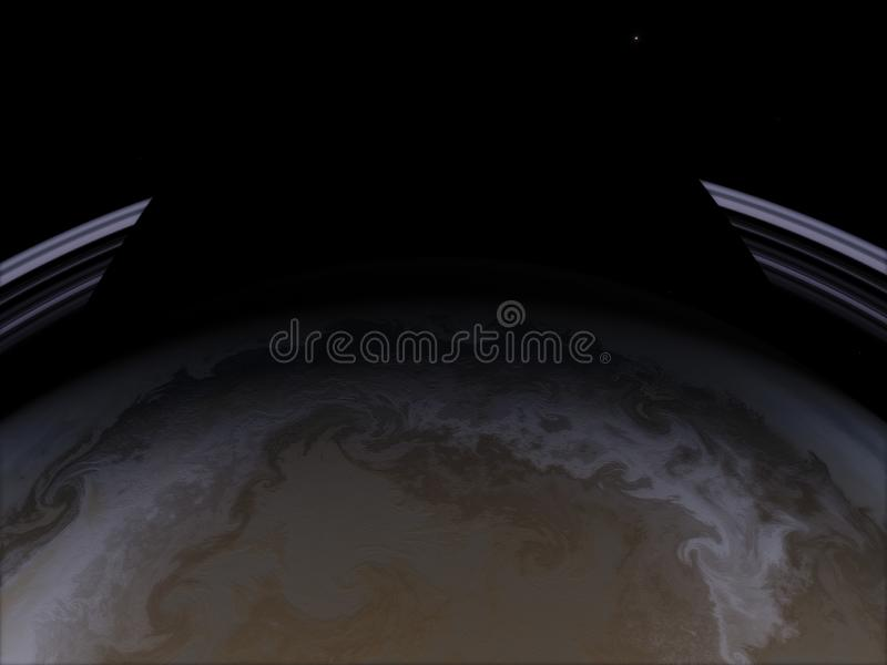 saturn Scienceutrymmetapet, incredibly härliga planeter, galaxer, mörker och kall skönhet av ändlöst royaltyfri illustrationer