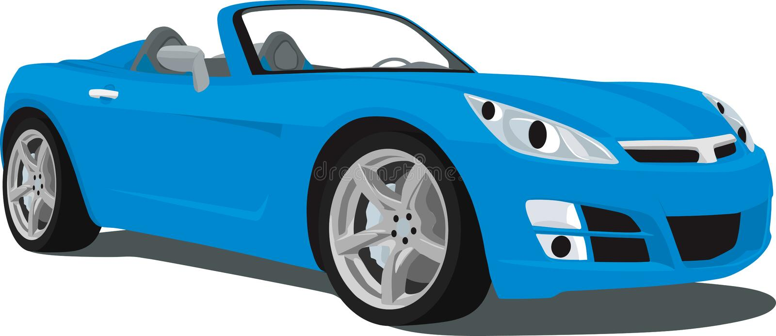 Saturn Sky Roadster. An illustration of a Saturn Sky Sports Car isolated on white. Saved in labeled layers for easy editing. See my portfolio for more automotive vector illustration