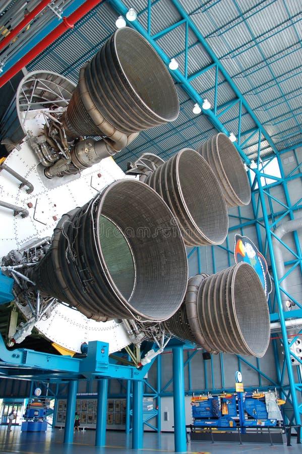 Saturn V â Motoren stockfotografie